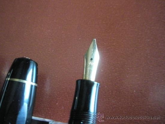 Estilográficas antiguas, bolígrafos y plumas: 1133/JUEGO-PLUMA+PORTAMINAS-KAWECO SPORT 55-NEGRO+DORADOS-FUNDA PIEL ORIGINAL - Foto 3 - 34085850