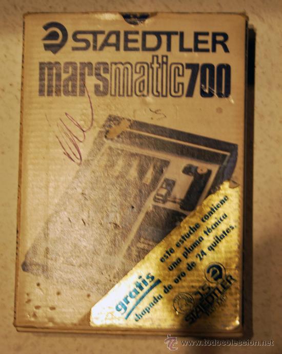 Estilográficas antiguas, bolígrafos y plumas: PLUMA STAEDTLER MARSMATIC700 - ANIVERSARIO 150 AÑOS (1835 - 1985) - CHAPADA EN ORO 24 KILATES - Foto 3 - 36083134