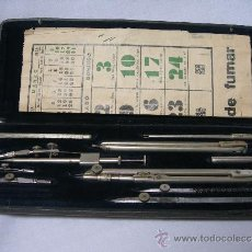 Estilográficas antiguas, bolígrafos y plumas: ANTIGUA CAJA DE COMPAS SHOENNER ALEMAN CON 10 PIEZAS. Lote 36412724