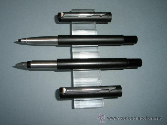 Estilográficas antiguas, bolígrafos y plumas: JUEGO DE PLUMA+ROLLER-PARKER VECTOR-NEGRO MATE-. - Foto 4 - 37522758
