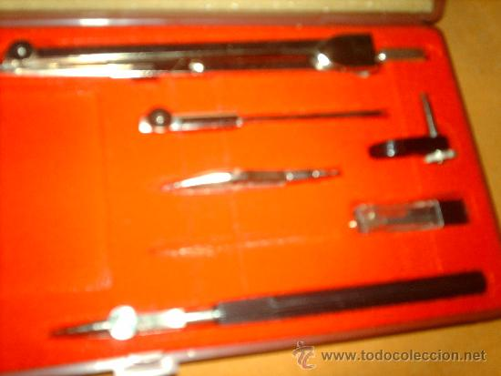 Estilográficas antiguas, bolígrafos y plumas: ANTIGUO JUEGO ESTUCHE COMPAS SAMER LEBER -INCOMPLETO - Foto 4 - 38701386
