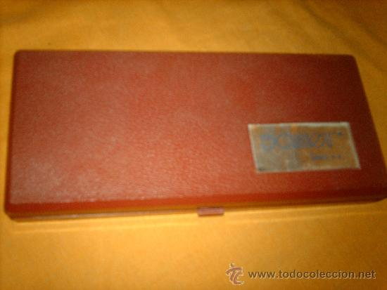 Estilográficas antiguas, bolígrafos y plumas: ANTIGUO JUEGO ESTUCHE COMPAS SAMER LEBER -INCOMPLETO - Foto 5 - 38701386