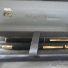 Estilográficas antiguas, bolígrafos y plumas: CONJUNTO INOXCROM DE PLUMA Y BOLIGRAFO NUEVO RESTO DE TIENDA,BARATO. Lote 39550505