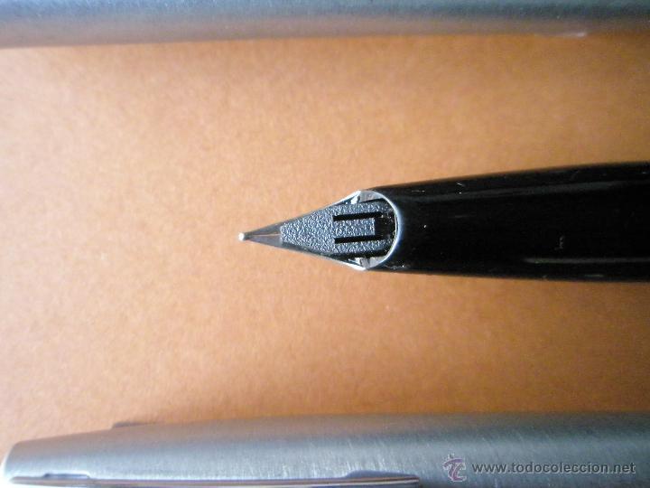 Estilográficas antiguas, bolígrafos y plumas: 575-juego-PLUMA+BOLÍGRAFO-SHEAFFER IMPERIAL 444-usa-PLUMÍN M-CONVERTIDOR-NUEVO-CAJAS - Foto 4 - 40120365