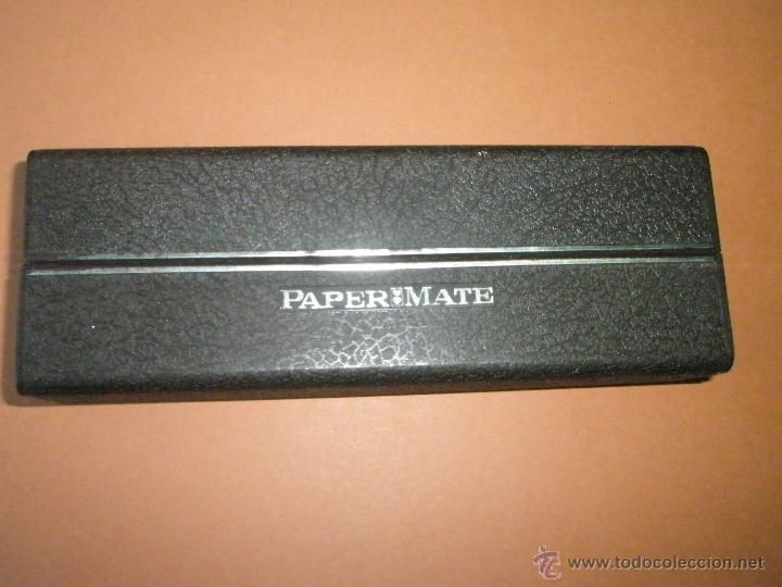 Estilográficas antiguas, bolígrafos y plumas: N594-BOLÍGRAFO+PORTAMINAS-PAPER MATE CHROME-U.S.A.-NUEVO-CAJAS-VER FOTOS. - Foto 7 - 40177030