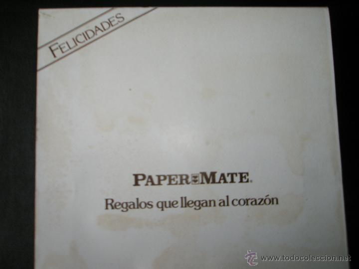Estilográficas antiguas, bolígrafos y plumas: Aº JUEGO DE BOLÍGRAFO+PORTAMINAS+BILLETERA-PAPER MATE CHROME-ACERO CEPILLADO-NUEVO-CAJAS-PRECINTADO. - Foto 3 - 40921857