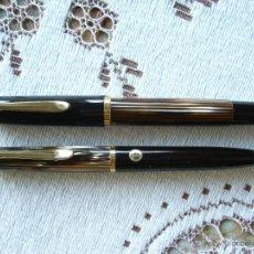 Estilográficas antiguas, bolígrafos y plumas - CONJUNTO PELIKAN 400 TORTOISE NUEVO PLUMIN ORO TRAZO OBB # L552 - 41293045