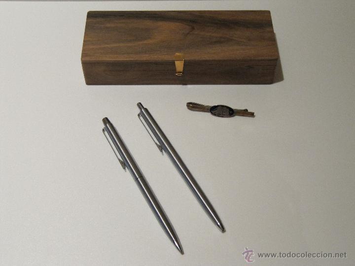 Estilográficas antiguas, bolígrafos y plumas: BOLIGRAFO, PORTAMINAS Y PASADOR DE CORBATA PAPER MATE EN ESTUCHE MADERA - Foto 2 - 41336816