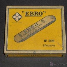 Estilográficas antiguas, bolígrafos y plumas: CAJA DE 12 GOMAS EBRO. Lote 42560921