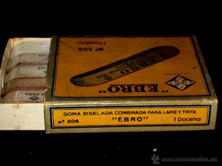 Estilográficas antiguas, bolígrafos y plumas: CAJA DE 12 GOMAS EBRO - Foto 7 - 42560921