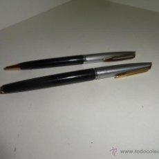 Estilográficas antiguas, bolígrafos y plumas: JUEGO BOLIGRAFO Y PLUMA WATERMAN PLUMIN ORO 18KT. Lote 43169051
