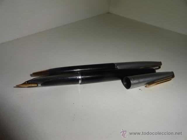 Estilográficas antiguas, bolígrafos y plumas: JUEGO BOLIGRAFO Y PLUMA WATERMAN PLUMIN ORO 18KT - Foto 5 - 43169051