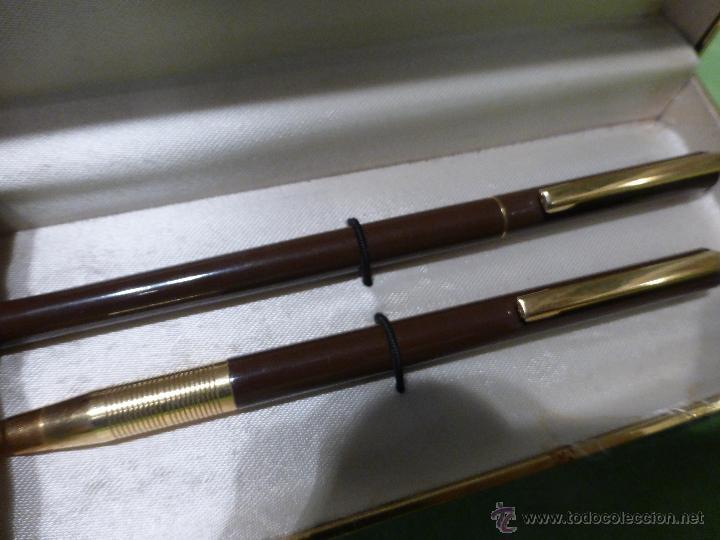 Estilográficas antiguas, bolígrafos y plumas: ESTUCHE DE BOLIGRAFO Y PORTAMINAS MARCA UNIVERSAL - Foto 10 - 28559283