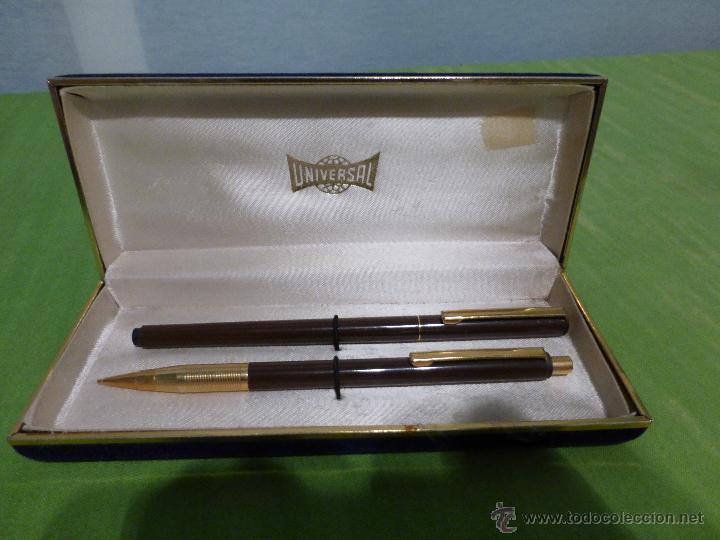 Estilográficas antiguas, bolígrafos y plumas: ESTUCHE DE BOLIGRAFO Y PORTAMINAS MARCA UNIVERSAL - Foto 12 - 28559283
