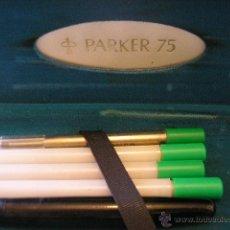 Estilográficas antiguas, bolígrafos y plumas: ESTUCHE PARKER PLUMILLA ORO. Lote 44087275