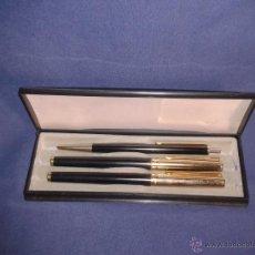 Estilográficas antiguas, bolígrafos y plumas: POU- BILL MADE IN GERMANY ESTUCHE CON ESTILOGRAFICA ,ROTULADOR Y LAPIZ. Lote 45553933
