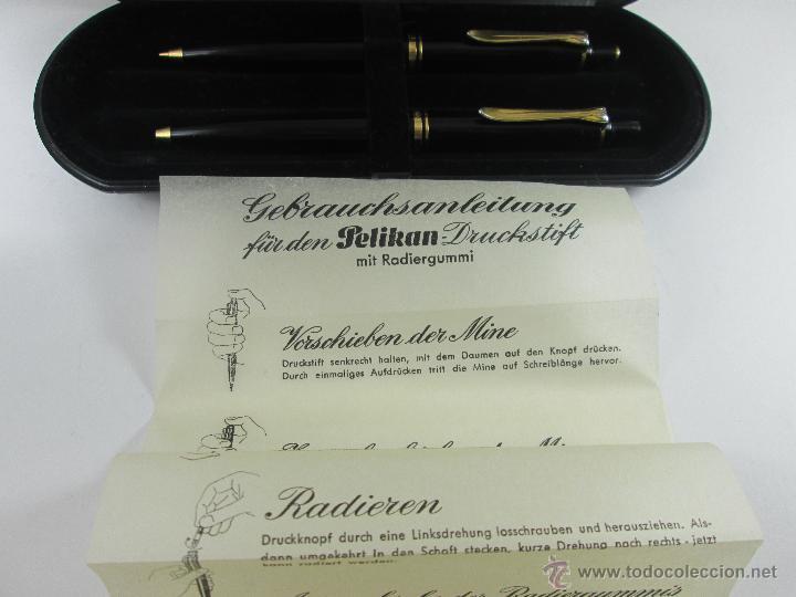 Estilográficas antiguas, bolígrafos y plumas: *(1079)*-JUEGO BOLÍGRAFO SOÜVERAN K.400+PORTAMINAS SOÜVERAN D.400-GERMANY-CAJA-PAPEL - Foto 3 - 46186584