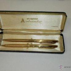 Estilográficas antiguas, bolígrafos y plumas - Antiguo estuche boligrafo y portaminas marca Wearever Ambassador. Raro. - 47189546