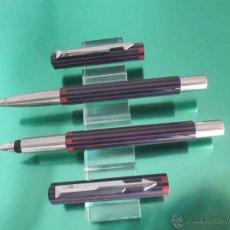Estilográficas antiguas, bolígrafos y plumas: 233/JUEGO-PLUMA+ROLLER-PARKER VECTOR-UK-AZUL+ROJO-NUEVO-CAJA-SIN USAR. Lote 25137159