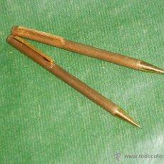 Estilográficas antiguas, bolígrafos y plumas: BOLIGRAFO Y PORTAMINAS KANOE - METAL DORADO. Lote 47987834