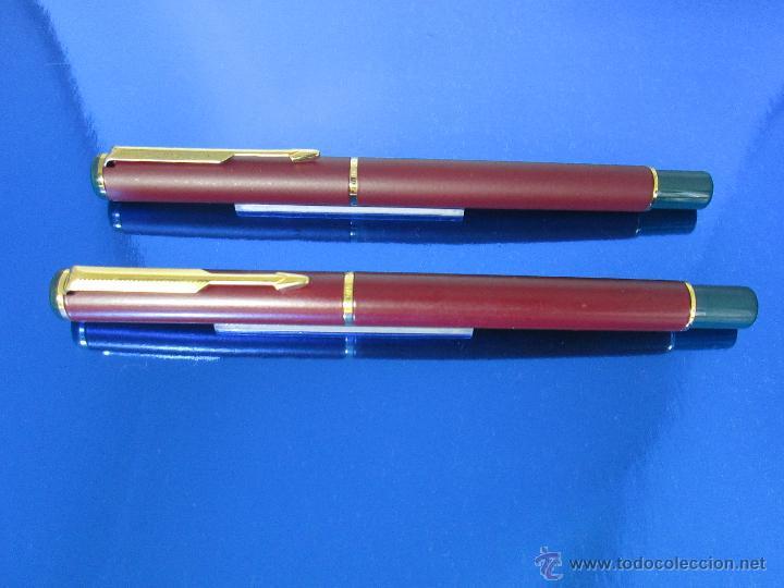Estilográficas antiguas, bolígrafos y plumas: 849/JUEGO-PLUMA+ROLLER-PARKER 88/RIALTO-UK-BURDEOS+ORO-VER FOTOS Y DESCRIPCIÓN - Foto 7 - 48147381
