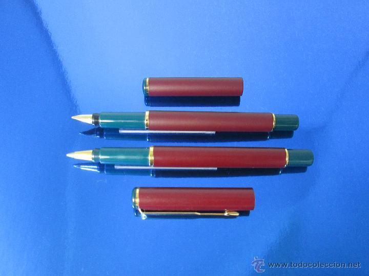 Estilográficas antiguas, bolígrafos y plumas: 849/JUEGO-PLUMA+ROLLER-PARKER 88/RIALTO-UK-BURDEOS+ORO-VER FOTOS Y DESCRIPCIÓN - Foto 11 - 48147381