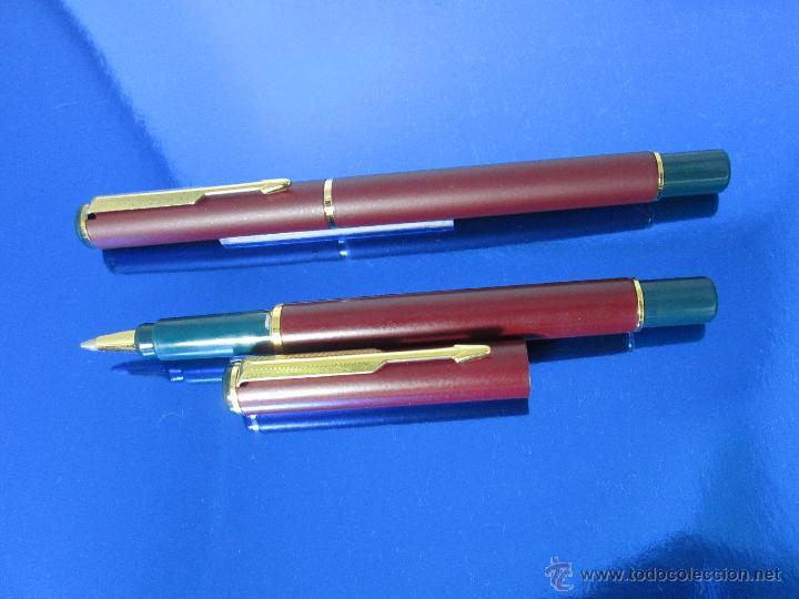 Estilográficas antiguas, bolígrafos y plumas: 849/JUEGO-PLUMA+ROLLER-PARKER 88/RIALTO-UK-BURDEOS+ORO-VER FOTOS Y DESCRIPCIÓN - Foto 12 - 48147381