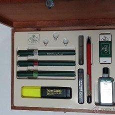 Estilográficas antiguas, bolígrafos y plumas: SET FABER CASTELL 10 PIEZAS. Lote 139694888