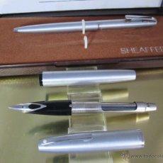 Estilográficas antiguas, bolígrafos y plumas: N575-JUEGO-PLUMA+BOLÍGRAFO-SHEAFFER IMPERIAL 444-U.S.A.-PLUMÍN M-CONVERTIDOR-NUEVO-CAJAS. Lote 40120365