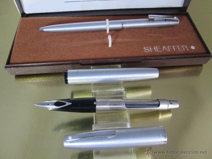 Estilográficas antiguas, bolígrafos y plumas: 575-juego-PLUMA+BOLÍGRAFO-SHEAFFER IMPERIAL 444-usa-PLUMÍN M-CONVERTIDOR-NUEVO-CAJAS - Foto 19 - 40120365