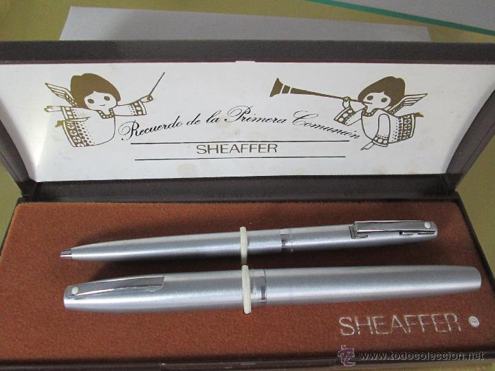 Estilográficas antiguas, bolígrafos y plumas: 575-juego-PLUMA+BOLÍGRAFO-SHEAFFER IMPERIAL 444-usa-PLUMÍN M-CONVERTIDOR-NUEVO-CAJAS - Foto 22 - 40120365