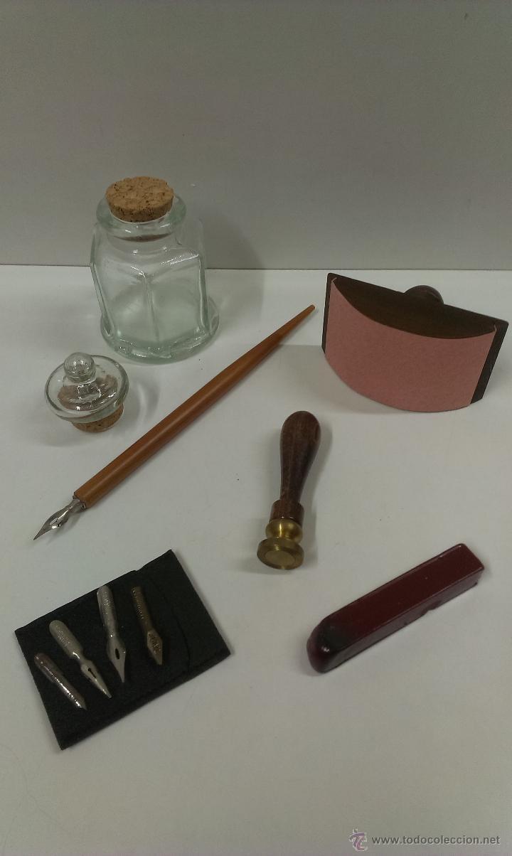 Estilográficas antiguas, bolígrafos y plumas: JUEGO COMPLETO DE ESCRITURA. EXCLUSIVE DESIGN - Foto 7 - 48940127