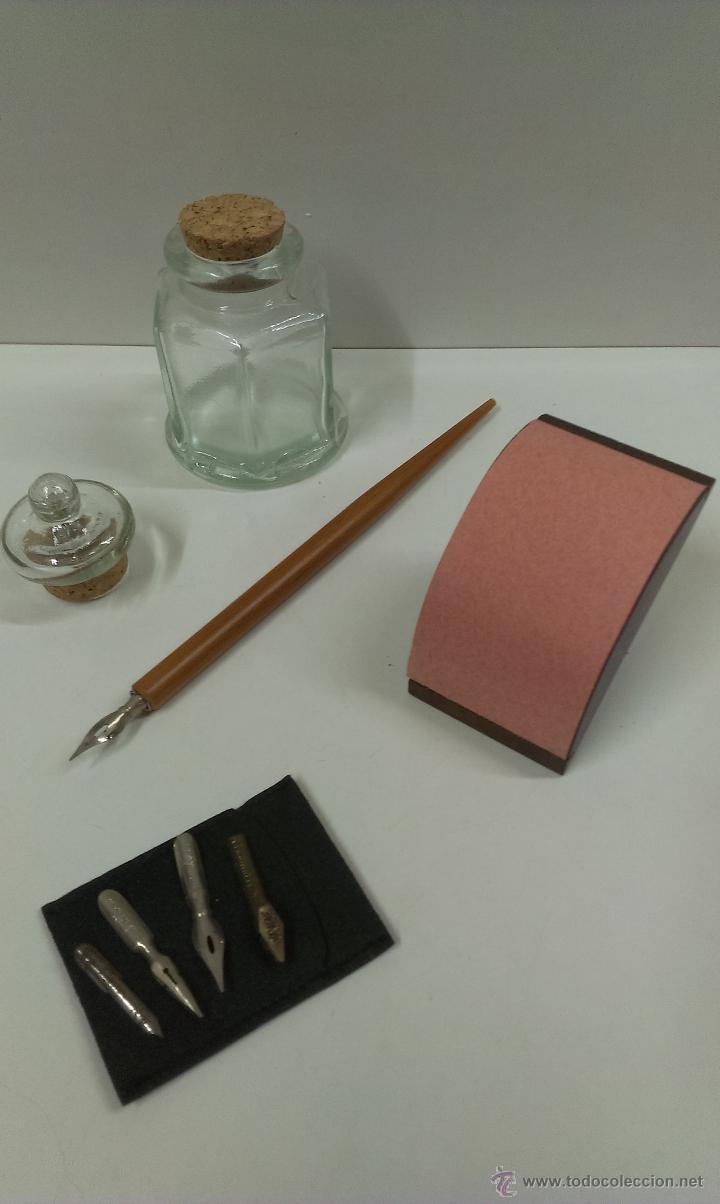 Estilográficas antiguas, bolígrafos y plumas: JUEGO COMPLETO DE ESCRITURA. EXCLUSIVE DESIGN - Foto 8 - 48940127