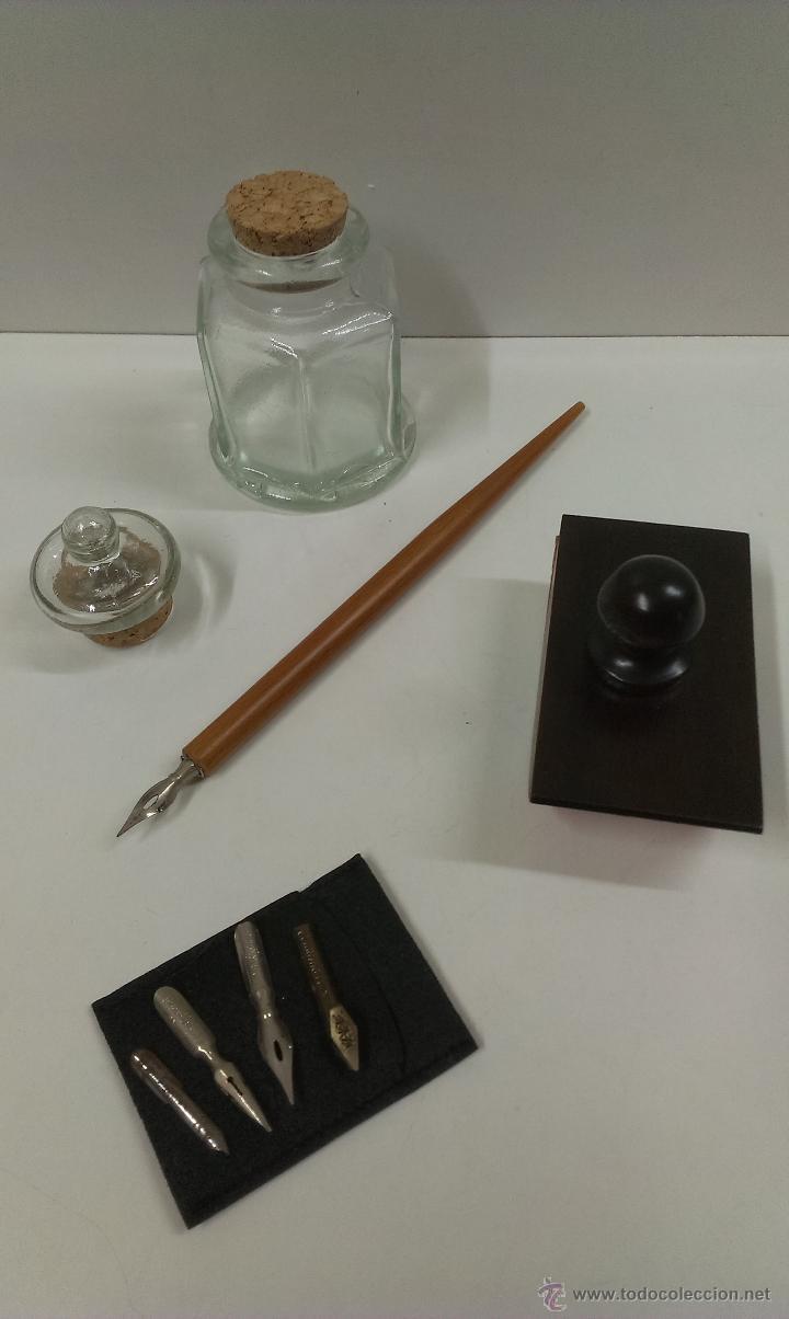 Estilográficas antiguas, bolígrafos y plumas: JUEGO COMPLETO DE ESCRITURA. EXCLUSIVE DESIGN - Foto 14 - 48940127