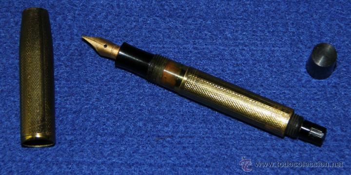 Estilográficas antiguas, bolígrafos y plumas: ANTIGUA ESTILOGRAFICA Y PORTAMINAS EN ESTUCHE - Foto 2 - 49739663