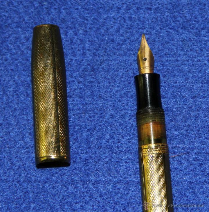 Estilográficas antiguas, bolígrafos y plumas: ANTIGUA ESTILOGRAFICA Y PORTAMINAS EN ESTUCHE - Foto 3 - 49739663