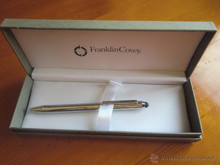 Estilográficas antiguas, bolígrafos y plumas: Bolígrafo con estuche FRANKLIN COVEY chrome. ¡Nuevo a estrenar! - Foto 2 - 198955198
