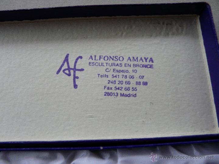 Estilográficas antiguas, bolígrafos y plumas: ABRECARTAS BRONCE - OBRA DEL ESCULTOR ALFONSO MAYA - Foto 15 - 51958981