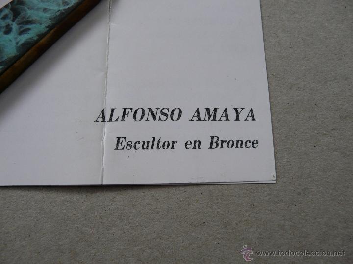 Estilográficas antiguas, bolígrafos y plumas: ABRECARTAS BRONCE - OBRA DEL ESCULTOR ALFONSO MAYA - Foto 17 - 51958981