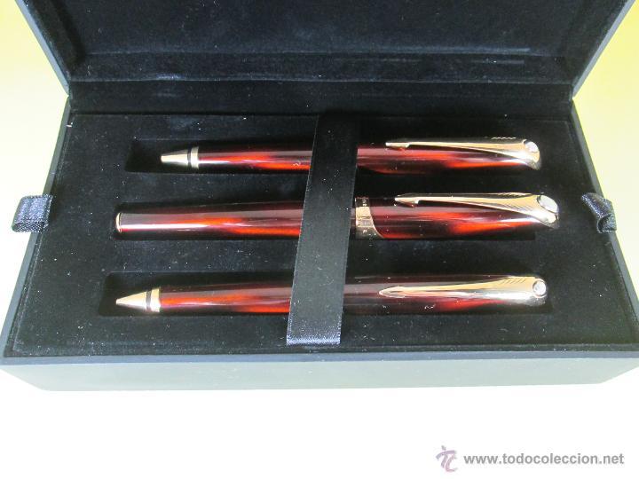 Estilográficas antiguas, bolígrafos y plumas: *769-Juego PLUMA+BOLÍGRAFO+PORTAMINAS-PARKER ELLIPSE-francia-RARO/ESCASO-2000-CAJA LU-CONSULTAR RED - Foto 35 - 47907790