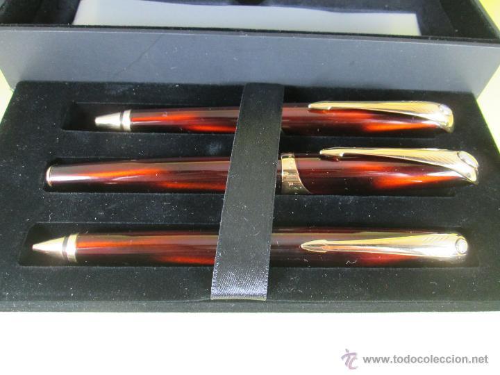 Estilográficas antiguas, bolígrafos y plumas: *769-Juego PLUMA+BOLÍGRAFO+PORTAMINAS-PARKER ELLIPSE-francia-RARO/ESCASO-2000-CAJA LU-CONSULTAR RED - Foto 36 - 47907790