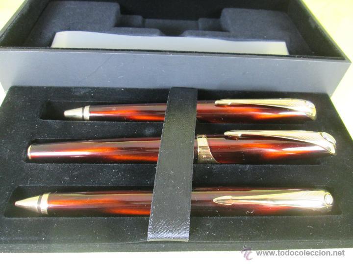 Estilográficas antiguas, bolígrafos y plumas: *769-Juego PLUMA+BOLÍGRAFO+PORTAMINAS-PARKER ELLIPSE-francia-RARO/ESCASO-2000-CAJA LU-CONSULTAR RED - Foto 39 - 47907790