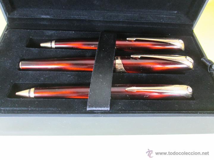 Estilográficas antiguas, bolígrafos y plumas: *769-Juego PLUMA+BOLÍGRAFO+PORTAMINAS-PARKER ELLIPSE-francia-RARO/ESCASO-2000-CAJA LU-CONSULTAR RED - Foto 43 - 47907790