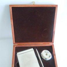 Estilográficas antiguas, bolígrafos y plumas: CONJUNTO DE ESCRITORIO EN ESTUCHE. Lote 52817967