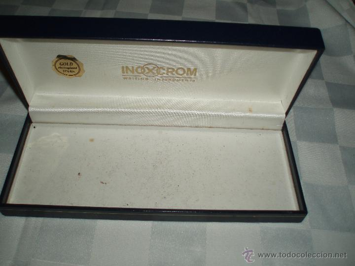 Estilográficas antiguas, bolígrafos y plumas: caja para pluma o boligrafo inoxcrom - Foto 2 - 52969095
