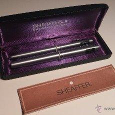 Estilográficas antiguas, bolígrafos y plumas - PLUMA Y BOLIGRAFO SHEAFFER 444 MEDIUM - 53787004