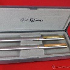 Estilográficas antiguas, bolígrafos y plumas: 1368/JUEGO-PLUMA +BOLÍGRAFO-REFORM GT-GERMANY-NUEVO-CAJA-VER FOTOS. Lote 53839276