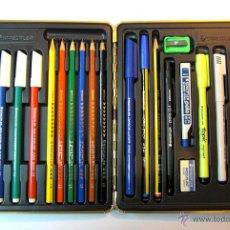 Estilográficas antiguas, bolígrafos y plumas: ESTUCHE STAEDTLER NUEVO, COMPLETO. AÑOS 80. Lote 53870911