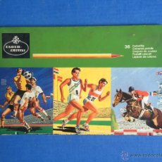 Estilográficas antiguas, bolígrafos y plumas: ESTUCHE DE METAL FABER CASTELL DE 40 UNIDADES USADAS 1955 FALTAN 9. Lote 53890542