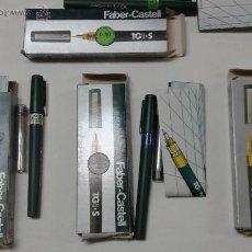 Estilográficas antiguas, bolígrafos y plumas: ESTILOGRAFOS FABER-CASTELL 0,4 , 0,6 , 0,7 Y 0,8. Lote 54282816
